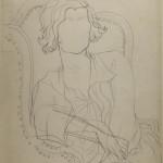 """JEAN COCTEAU, Coco Chanel, circa 1930 Pencil drawing Stéphane Dermit Collection, on loan to Maison Jean Cocteau, Milly-la-Forêt, ©ADAGP, Paris 2016 All rights reserved ©Collection Patrimoine de CHANEL """"With the kind authorization of M. Pierre Bergé, président du Comité Jean Cocteau"""""""