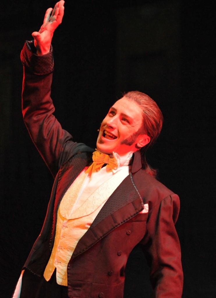 Bruno Grassini sul palco nel musical Jekyll & Hide, Colonia