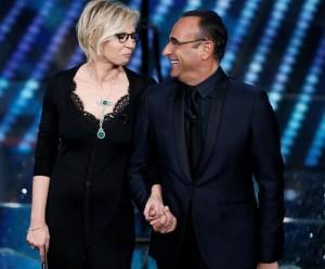 Sanremo2017, Carlo Conti e Maria De Filippi alla conduzione.