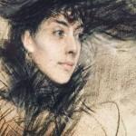 Giovanni Boldini, La testa bruna (Brunette), 1890