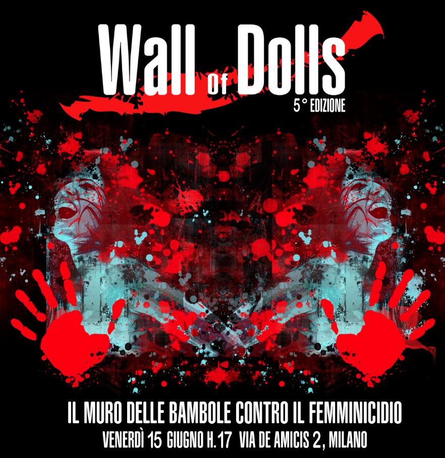 Wall of Dolls 2018. Contro il femminicidio a Milano