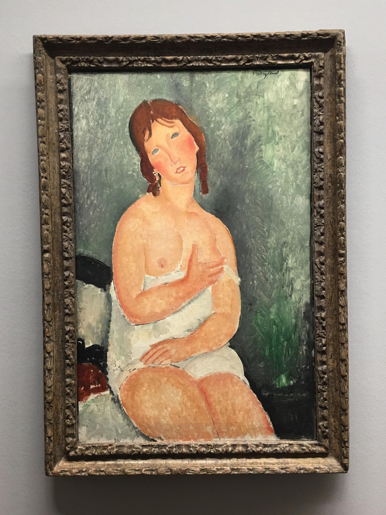 Amedeo Modigliani, Female Semi-Nude, 1918, Collezione Batliner, Albertina Museum, Vienna