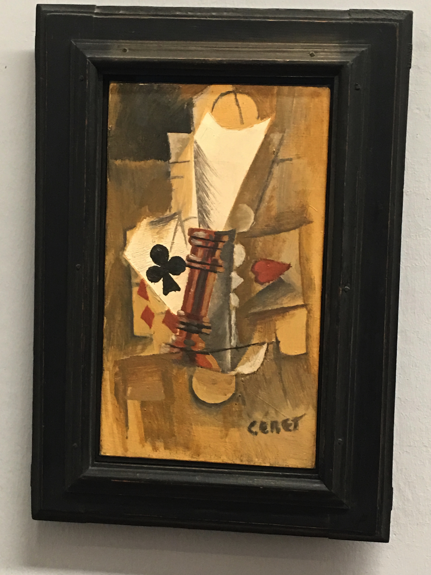 Pablo Picasso, The playing cards, 1912, Collezione Batliner, Albertina Museum, Vienna