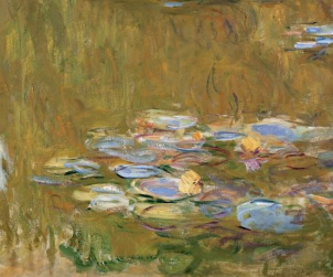 Water lily pond by Monet, Albertina Museum, Vienna