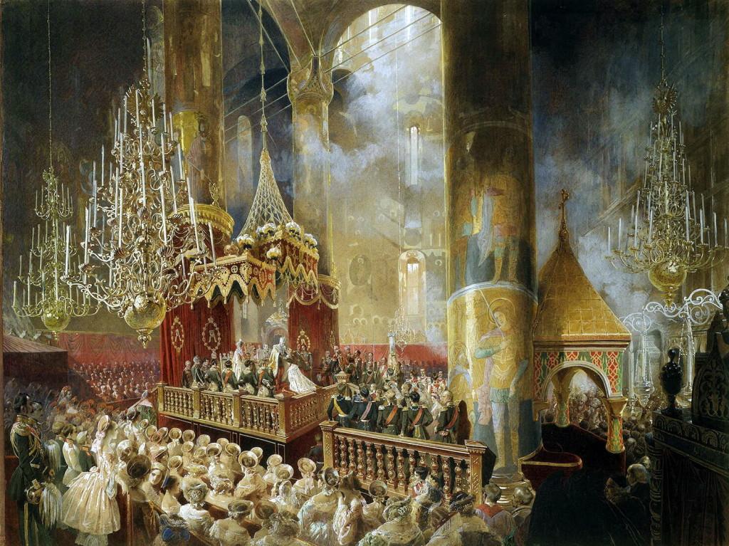 L'incoronazione di Alessandro II e Maria Alexandrovna, Mihály Zichy, 1856