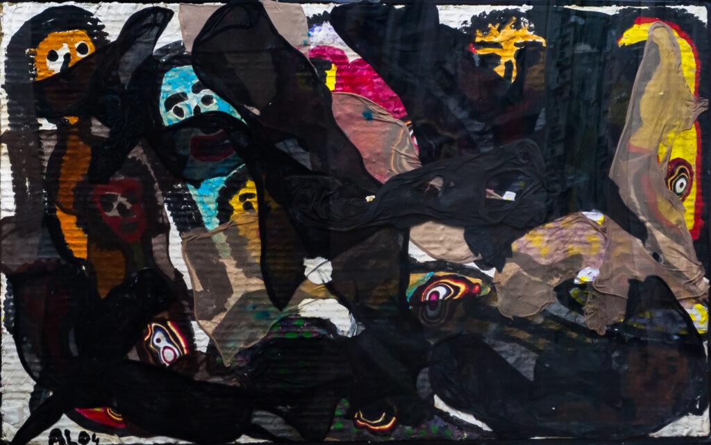 Aldo Forbice, quadro esposto per l'evento L'Eco della Pace